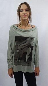 Blusa Drapeada Frente Eire - 002- DT Terça-Feira