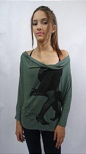 Blusa Drapeada Frente Eire - 366 - Foto Pernas dança de Salão