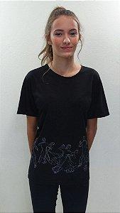 Camisa Básica Preta - 229- TARJA BALLROOM DESENHO
