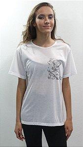 Camisa Básica Branca - 360-N&H TANGO DESENHO