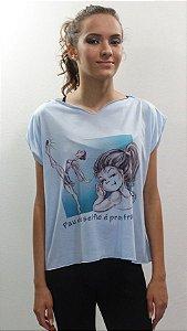 Blusa Fenda Azul Claro - 520 – DT PAU DE SELFIE - Tamanho Único