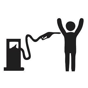 """Adesivo em Recorte """"Bomba de Gasolina"""" - 10 cm"""