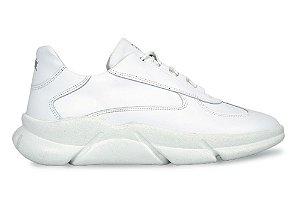 Sneakers Masculino Couro All White Barcelona Design | Brooklyn Bull