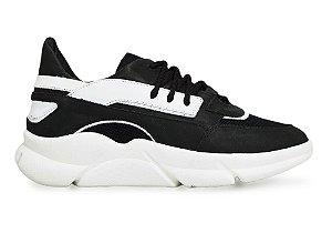 Tênis Sneakers Masculino Couro Preto Barcelona Design | Brooklyn Bull
