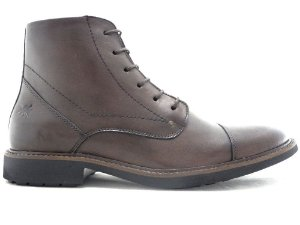 Bota Masculina Cano Médio Couro Café Barcelona Design