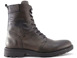 Bota Cano Alto Masculina De Couro Café Barcelona Design