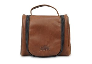 Necessaire Bag Couro Whisky Barcelona Design