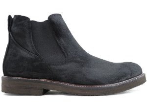 Bota Chelsea Couro Preto Camurça Stoned Barcelona Design