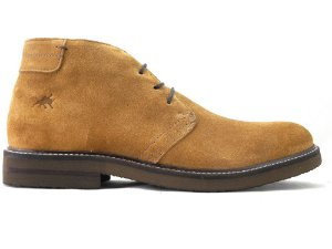 Bota Chukka Masculina Couro Camurça Caramelo Barcelona Design