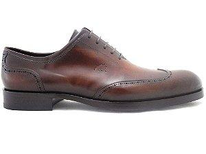 Sapato Oxford Brogue Couro Whisky Barcelona Design