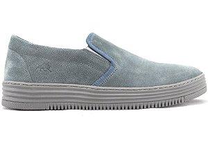 Tênis Iate Couro Camurça Jeans Barcelona Design