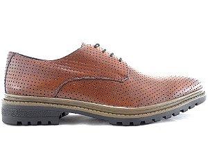 Sapato Derby Couro Furado Whisky Barcelona Design
