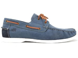 DOCKSIDE COURO NOBUCK NAVY BARCELONA DESIGN