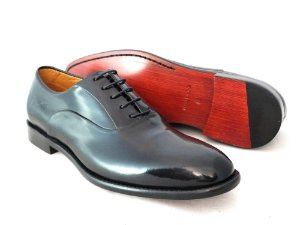 Sapato Oxford Couro Brush Off Preto Barcelona Design