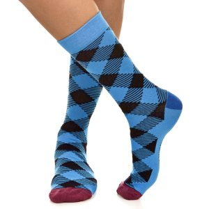 MEIA SOCKS ON THE BEAT - LUMBERJACK AZZURRA
