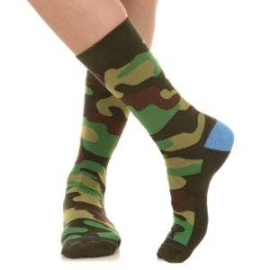MEIA SOCKS ON THE BEAT - CAMUFLADO GREEN