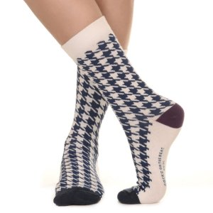 MEIA SOCKS ON THE BEAT - PIED DE COQ NAVY