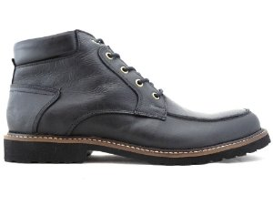 Bota Cano Curto Masculina De Couro Preto Barcelona Design