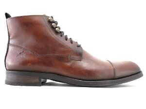 Bota Masculina Cano Médio Couro Whisky Barcelona Design