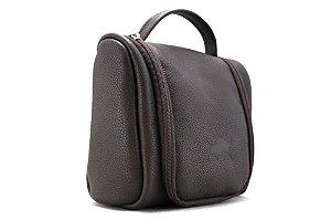 Necessaire Bag Couro Café Barcelona Design
