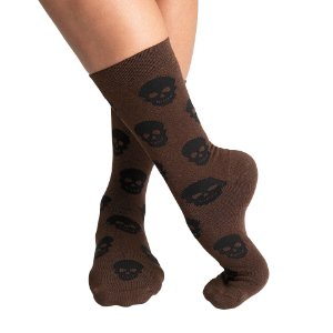 Meia SOCKS ON THE BEAT Skull Coffee
