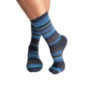 Meia SOCKS ON THE BEAT Strisce Navy