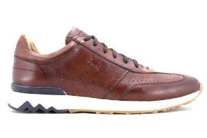 Tênis Jogging Couro Whisky Bacelona Design