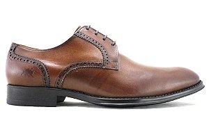 Sapato Masculino Derby Couro Marrom Caramelo Barcelona Design