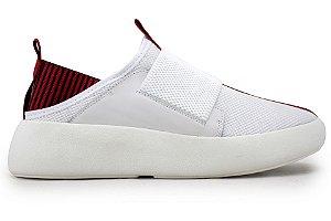 Tênis Masculino Sneakers Elástico Branco Barcelona Design