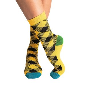 Meia SOCKS ON THE BEAT LUMBERJACK BLONDE