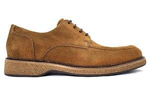 Sapato Casual Masculino Couro Camurça Caramelo Barcelona Design