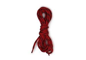 Cadarço Redondo Preto/Vermelho 1,30m Barcelona Design