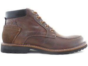 Bota Masculina Cano Curto Couro Castor Escuro Barcelona Design