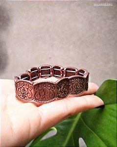 Bracelete trabalhado cobre velho.