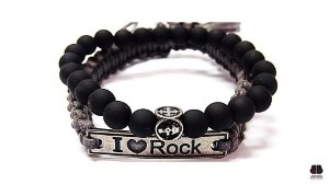kit de Pulseira I Love Rock