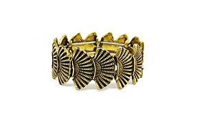 Bracelete Leque Ouro Velho