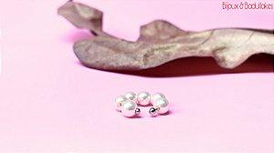 Piercing fake pérolas prata