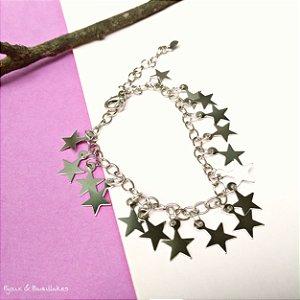 Pulseiras prata estrelas