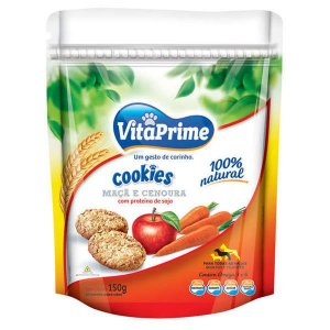 Cookie Natural para Cães Vitaprime Maça e Cenoura