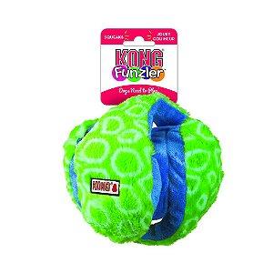 Bola Kong de Pelucia Funzler Azul e Verde