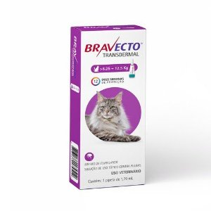 Antipulgas MSD Bravecto Transdermal para Gatos de 6,25 a 12,5Kg