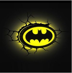 Luminária 3D Light FX DC Comics Logo Batman