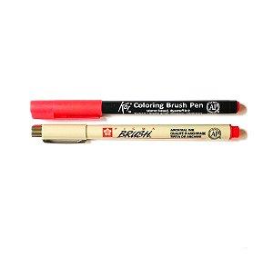 Duo de canetas Sakura tons vermelhos