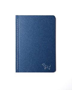 Caderno Pontilhado Médio Papirkutya Azul