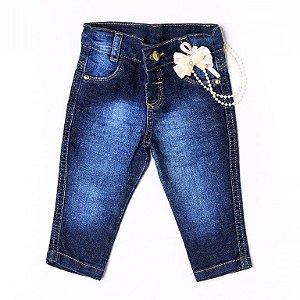 Calça Jeans Laço Marfim