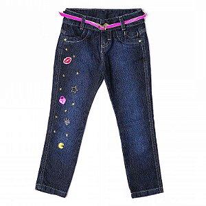 Calça Jeans Patchs