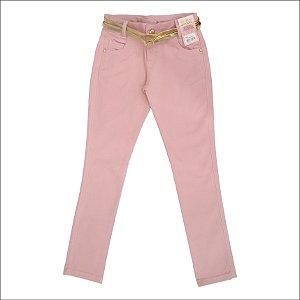 Calça Feminina Sarja Color Trend Teen Rosa