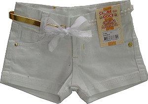 Shorts Feminino Sarja Perla Branco