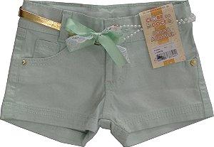 Shorts Feminino Sarja Perla Verde