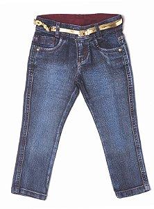 Calça Feminina Jeans Merlot Lurex